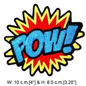 Pow patch iron on comic words expressions DIY BAM